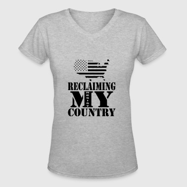 Reclaiming My Country - Women's V-Neck T-Shirt