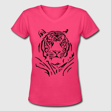 Majestic tiger - Women's V-Neck T-Shirt