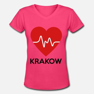 Krakow Heart Krakow - Women's V-Neck T-Shirt