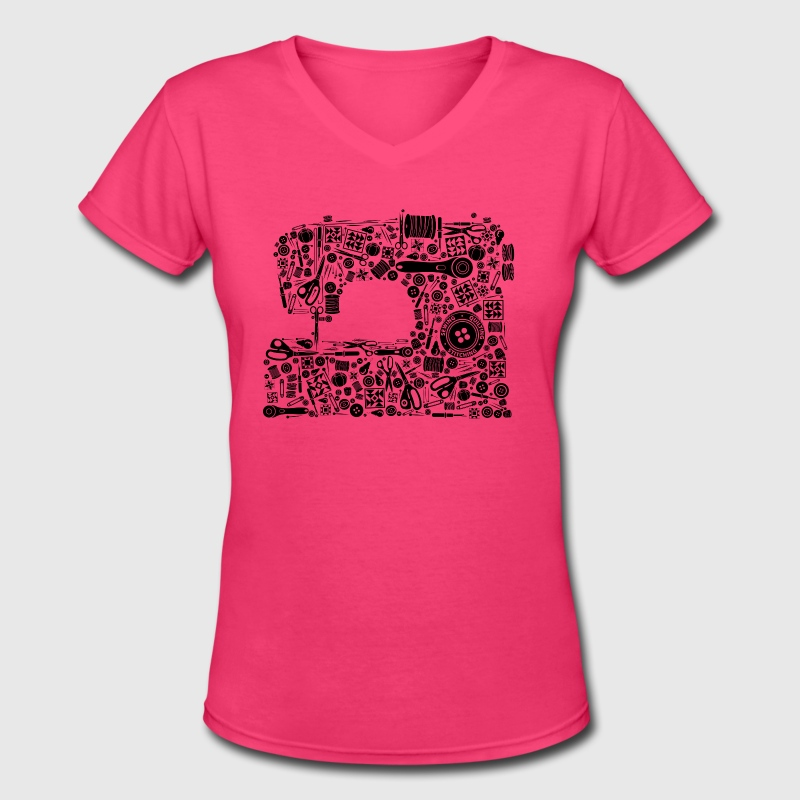 Sewing Quilting Crafting - Women's V-Neck T-Shirt