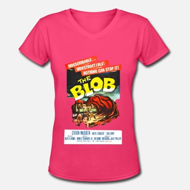 Blob the blob - Women's V-Neck T-Shirt
