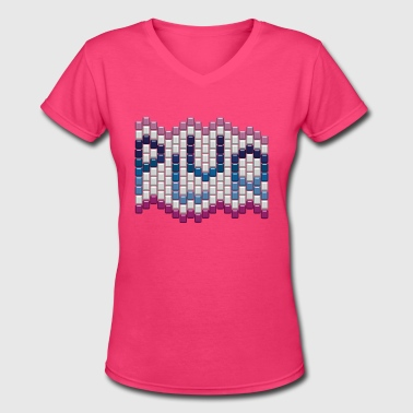 KandiKollektion - PLUR - EDM - Women's V-Neck T-Shirt