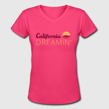 California Dreamin 3 - Women's V-Neck T-Shirt
