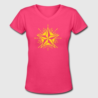 Communist Party Star - Women's V-Neck T-Shirt