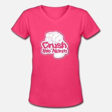 Norms Crush the Norm - Women's V-Neck T-Shirt