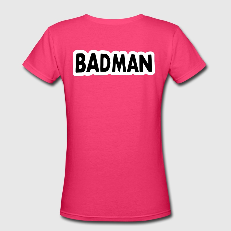 Badman T-Shirts - Women's V-Neck T-Shirt