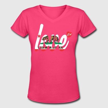 Love Cali - Women's V-Neck T-Shirt