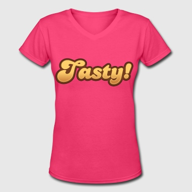 Tasty - Women's V-Neck T-Shirt