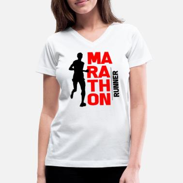 Half Marathon Marathon Long-distance running runner Sports Gift - Women's V-Neck T-Shirt