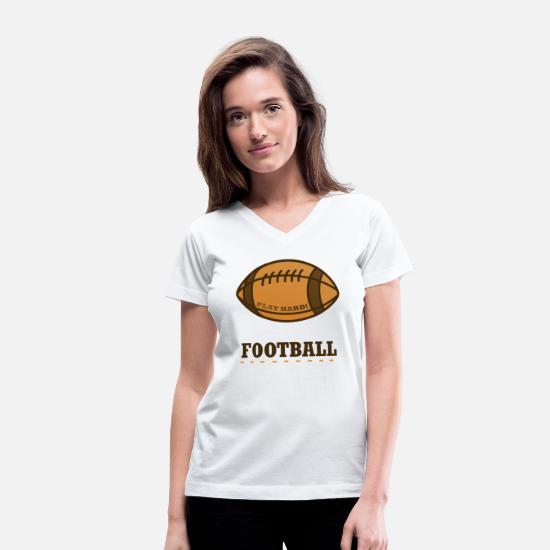 Ball T-Shirts - Ball - Women's V-Neck T-Shirt white