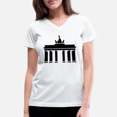 Brandenburg Gate Brandenburg Gate - Women's V-Neck T-Shirt