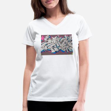 Graffiti10 - Women's V-Neck T-Shirt