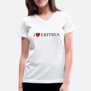 I Love Heart Eritrea V-Neck T-Shirt