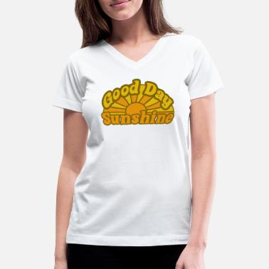Spring Sunshine Retro - Women's V-Neck T-Shirt