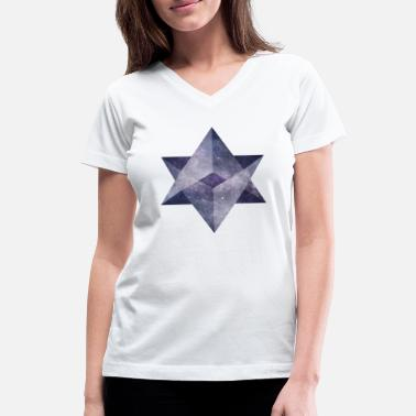 Sacred Geometry Sacred Galaxy - Women's V-Neck T-Shirt