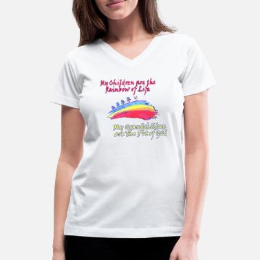 Pot Of Gold Grandkids are the Pot of Gold - Women's V-Neck T-Shirt