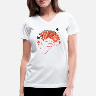 Printing Poker cards - Women's V-Neck T-Shirt