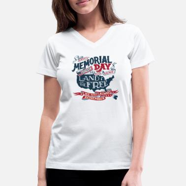 Memorial Day We Remember - Memorial Day USA - Women's V-Neck T-Shirt