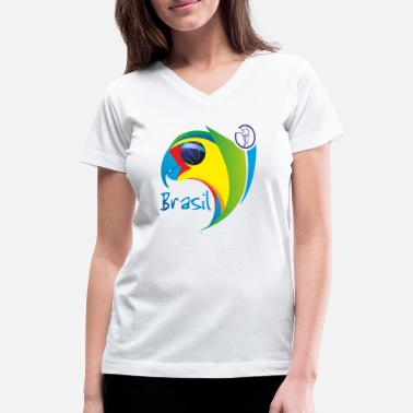 Brazil Samba Brazil land of samba and soccer - Women's V-Neck T-Shirt
