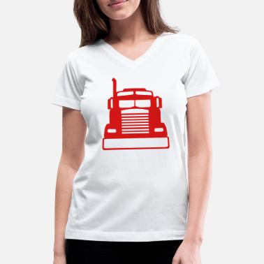 American Icon american icon truck 1103 - Women's V-Neck T-Shirt