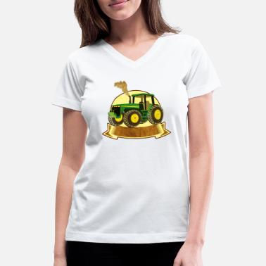 Trecker Bulldog Schlepper Traktor Trecker Landwirtschaft - Women's V-Neck T-Shirt