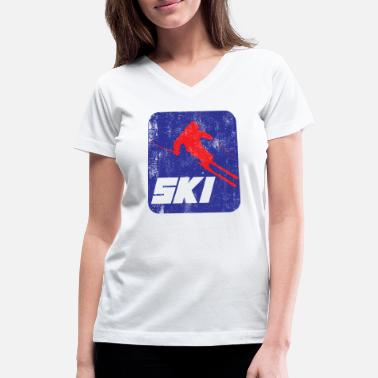 Winter Sports Ski Winter Sport - Women's V-Neck T-Shirt