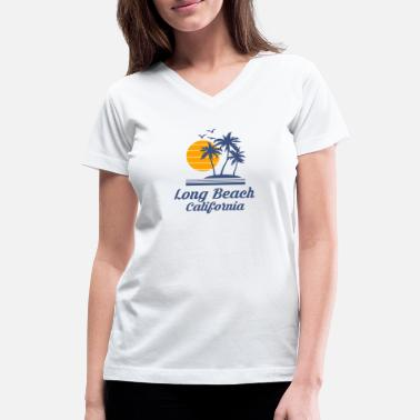 Long Beach California Shirt City Tourist Souvenir - Women's V-Neck T-Shirt