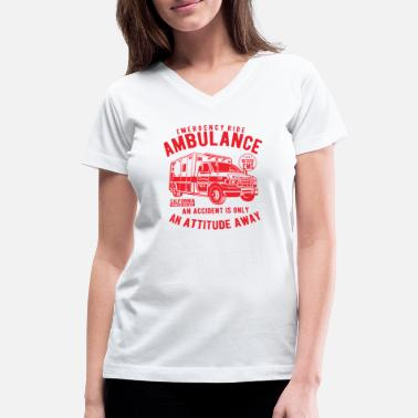 Ambulance Nurse Ambulance - Women's V-Neck T-Shirt