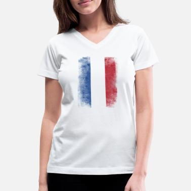 Grudge Flag Design Netherlands Flag Proud Dutch Vintage Distressed - Women's V-Neck T-Shirt