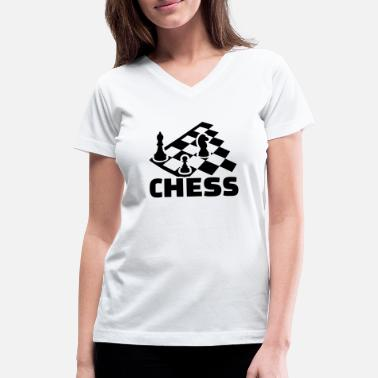 Chess Board chess boards - Women's V-Neck T-Shirt
