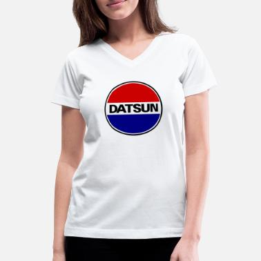 Motor Sport Datsun Motors - Women's V-Neck T-Shirt