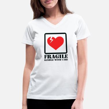 fragile - Women's V-Neck T-Shirt