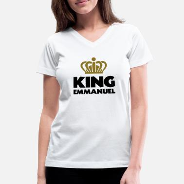 Emmanuel King emmanuel name thing crown - Women's V-Neck T-Shirt