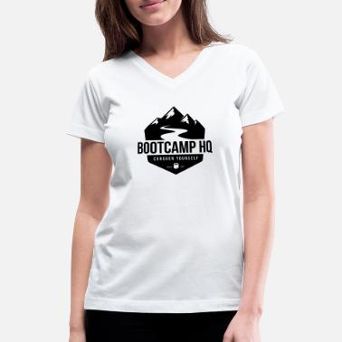 Bootcamp Bootcamp HQ - Women's V-Neck T-Shirt