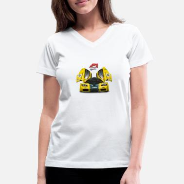 Hypercar f1 gtr - Women's V-Neck T-Shirt