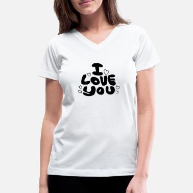 Love You Love You Love - Women's V-Neck T-Shirt