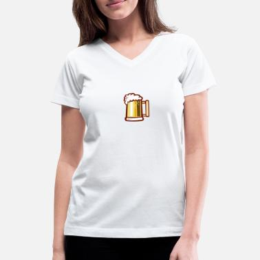 Beer Stein Beer Stein Isolated Retro - Women's V-Neck T-Shirt