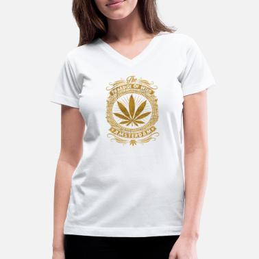 Holland The paradise of weed AMSTERDAM - Women's V-Neck T-Shirt