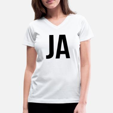 Ja JA - Women's V-Neck T-Shirt