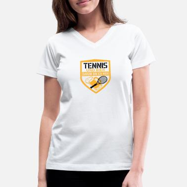 Whiskey Tennis and beer that's why I'm here party gift - Women's V-Neck T-Shirt