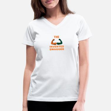 Hurricanes Miami Merchandise Sports Football Invented Swagger Quote - Women's V-Neck T-Shirt