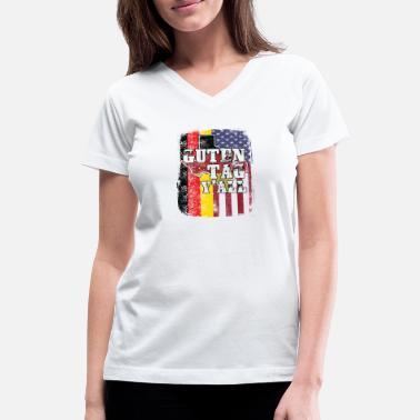 4f5df3d9 Guten Tag Yall- Texas German Shirt - Women's V-Neck