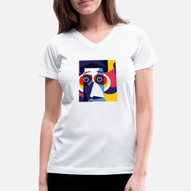 Abstract Beautiful Abstract Design - Women's V-Neck T-Shirt
