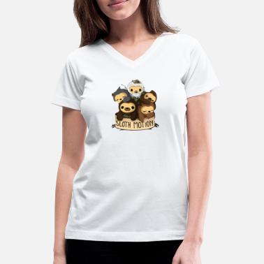 Motion SLOTH MOTION - Women's V-Neck T-Shirt
