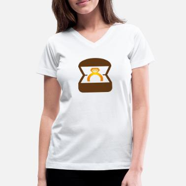 Wedding Ring An Engagement Ring / Wedding Ring - Women's V-Neck T-Shirt