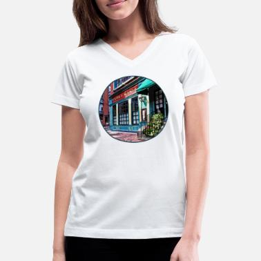 End Boston Ma - North End Restaurant - Women's V-Neck T-Shirt