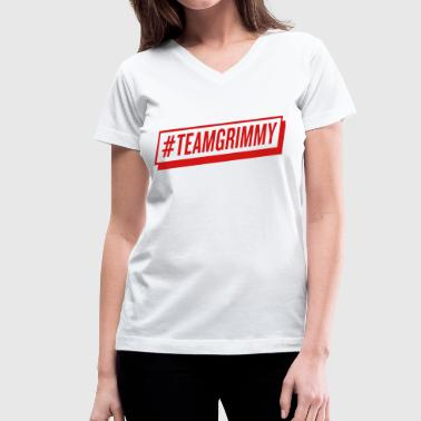 #TEAMGRIMMY - Women's V-Neck T-Shirt