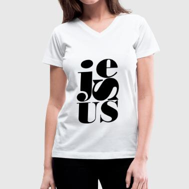 Christianity, Jesus design  - Women's V-Neck T-Shirt