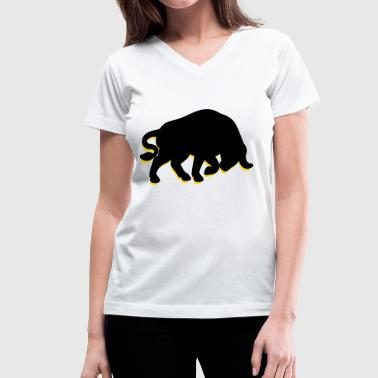 Bull (2c)++2013 - Women's V-Neck T-Shirt