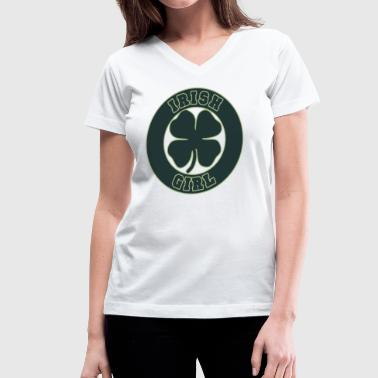 Irish Girl - Women's V-Neck T-Shirt